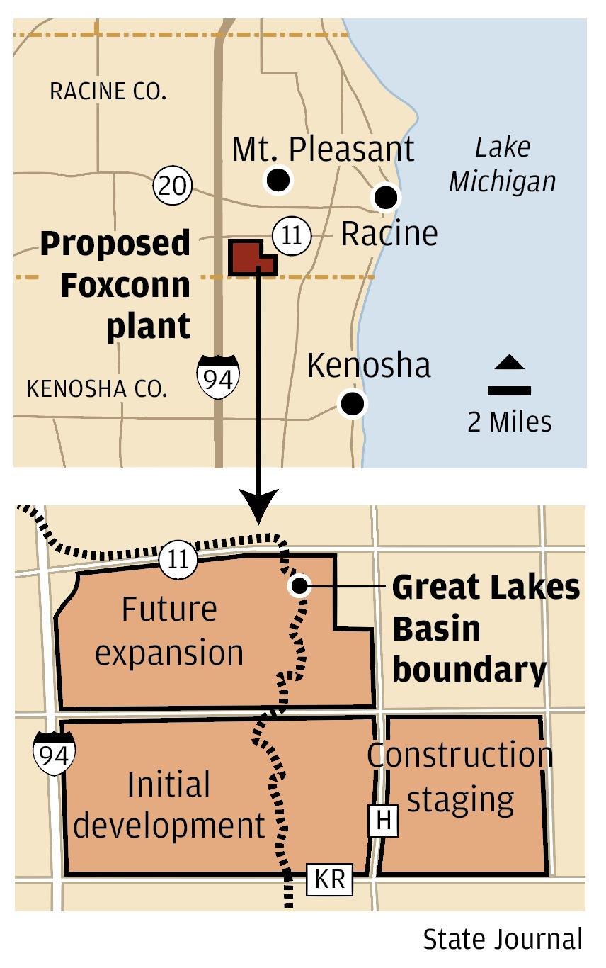 Foxconn basin map