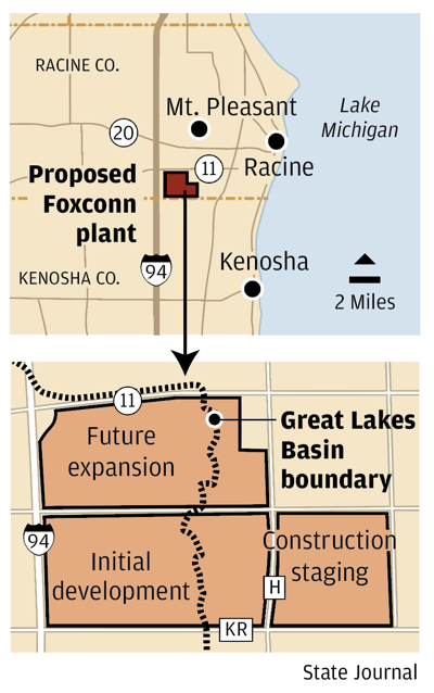 Foxconn basin map