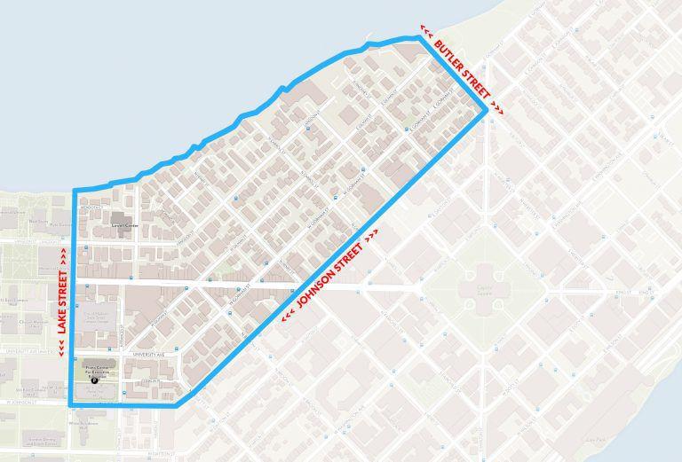 Off-campus alert area