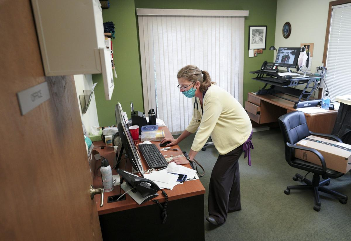 Larson in office