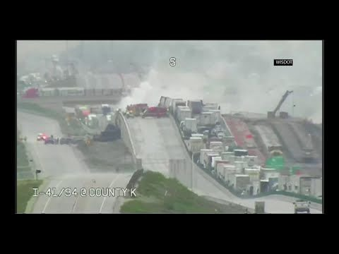 Video: Fiery double fatal crash closes I-94 in Racine County for hours