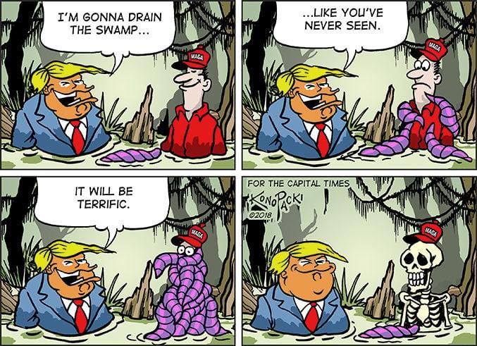Plain Talk Trumps filling the swamp instead of draining it  Dave Zweifel   madisoncom