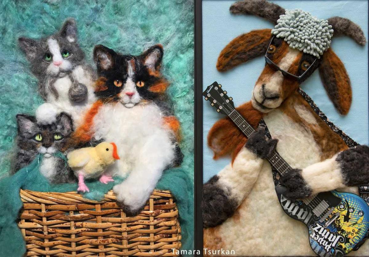Felted animals by Tamara Tsurkan TAMARA TSURKAN