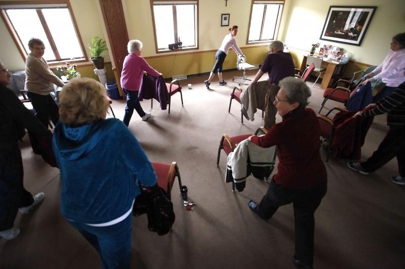 elderly chair yoga