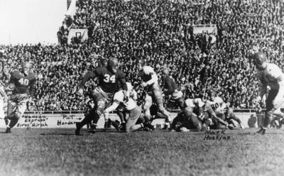 Badgers football game 1942 archive photo