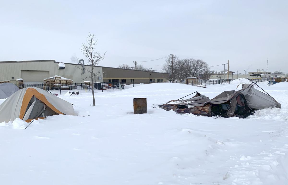 McPike Park homeless - tents
