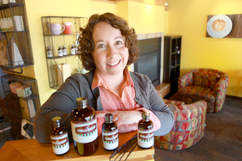 Julie Wiedmeyer of the Vanilla Beanery at Beans 'n' Cream Coffeehouse