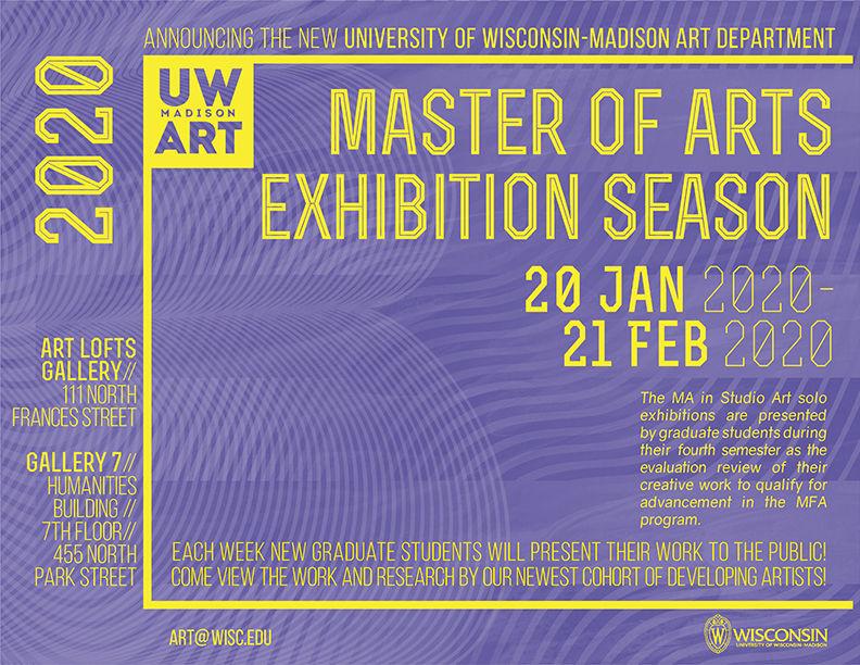 2020 UW-Madison MA Exhibition Season