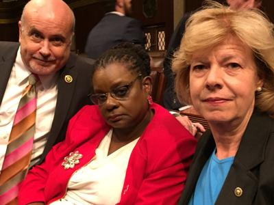 Pocan, Moore, Baldwin: gun control sit-in