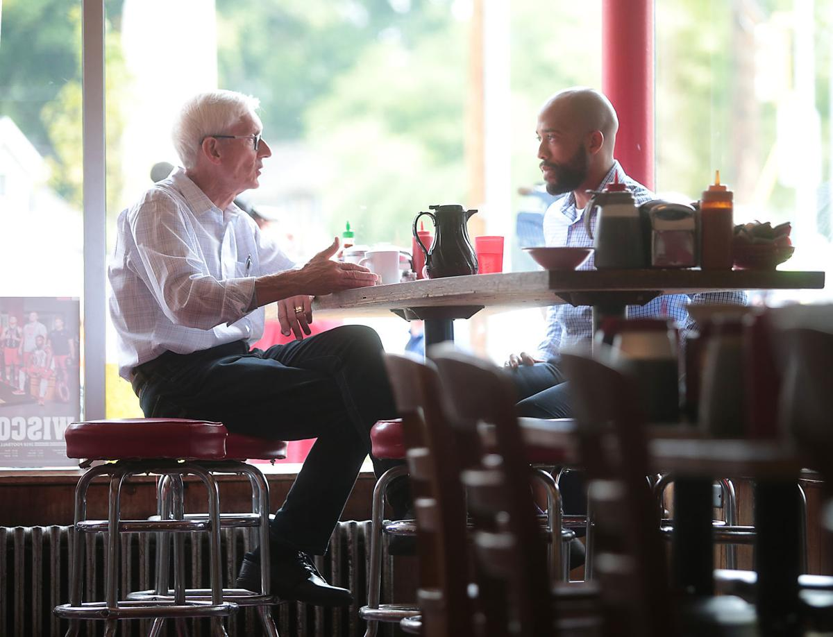 Tony Evers and running mate Mandela Barnes meet for first time