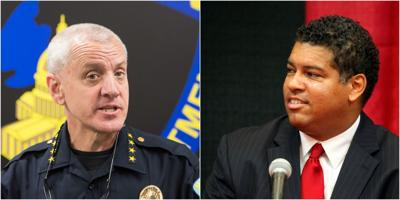 Chief Mike Koval and DA Ismael Ozanne