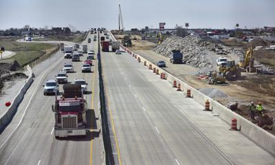 Interstate 94 construction lanes
