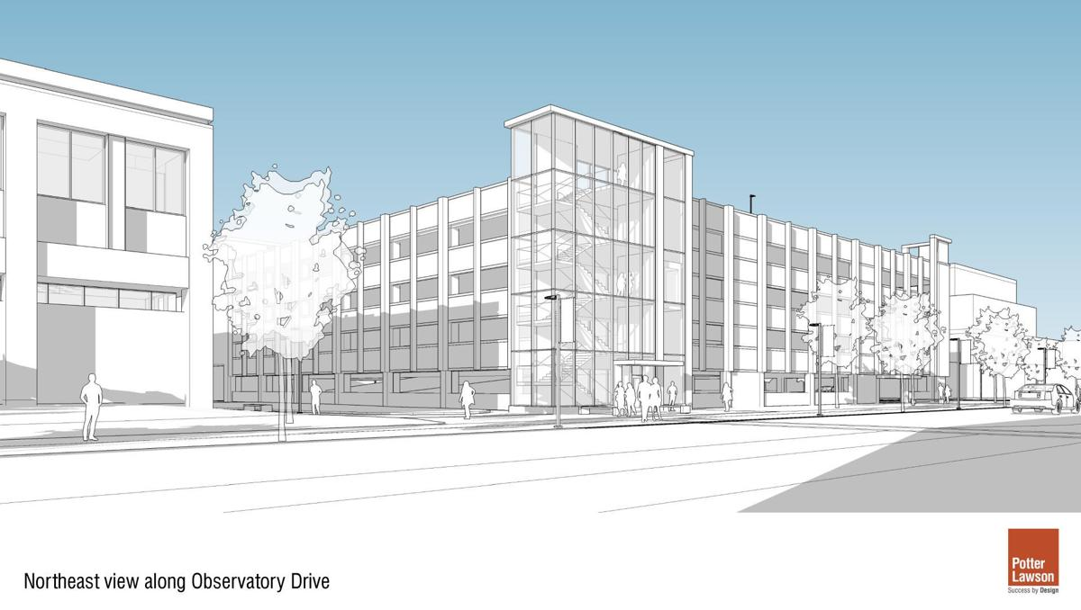 Linden Drive Parking Garage rendering