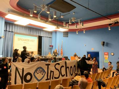 School Board protest