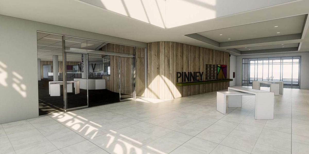Pinney Library atrium