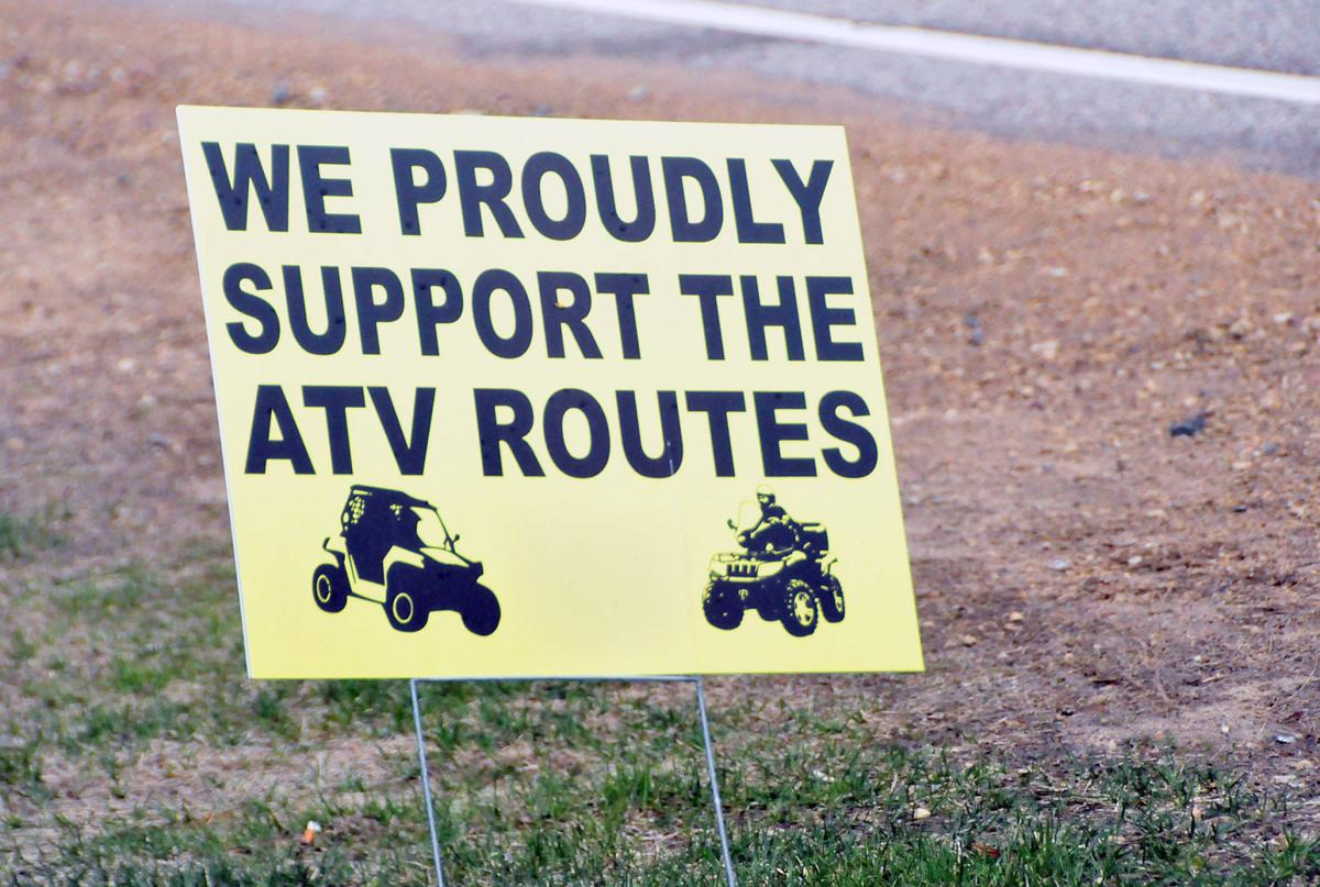 Pro-ATV sign