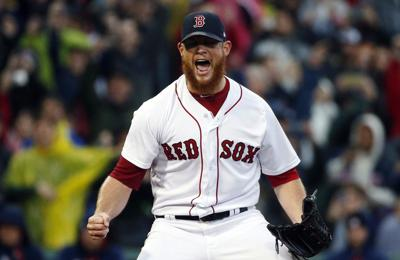Craig Kimbrell with Red Sox 2017, AP photo
