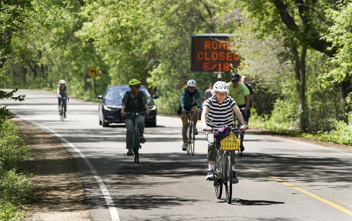 Bikers on Arboretum Drive