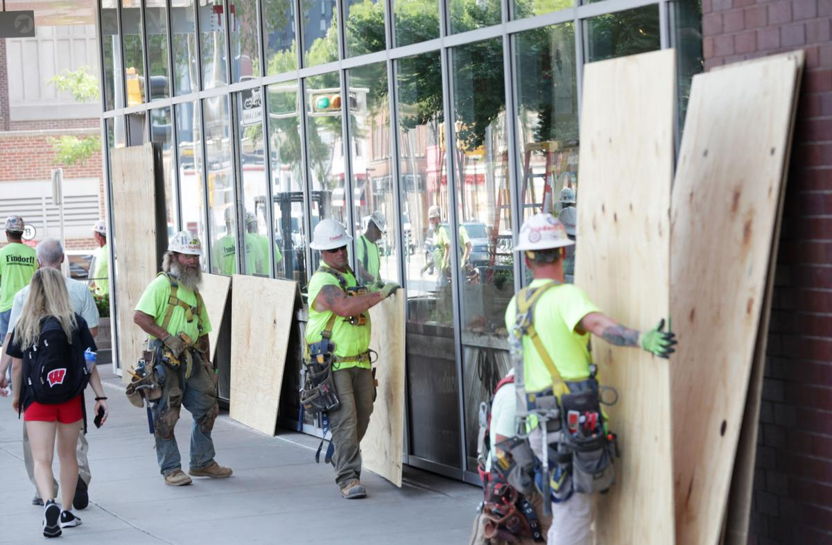 Clean up downtown after Tuesday night protests