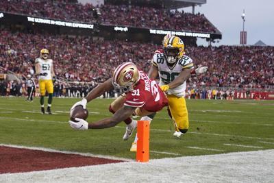 NFC Championship Packers 49ers - Raheem Mostert