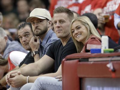 Justin Timberlake, J.J. Watt Kealia Ohai