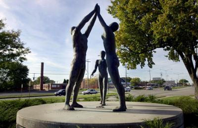 Racial equity - South Park Street sculpture
