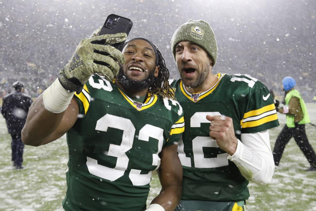 Like Aaron Rodgers, Aaron Jones 'would love to be a lifelong Packer' — but  will he? | Pro football | madison.com