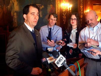 Walker accuses Wisconsin Democrats of 'anger and hatred'