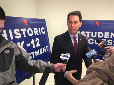 Scott Walker touts more funding for K-12 schools