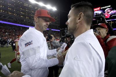Kyle Shanahan, Matt LaFleur, AP photo