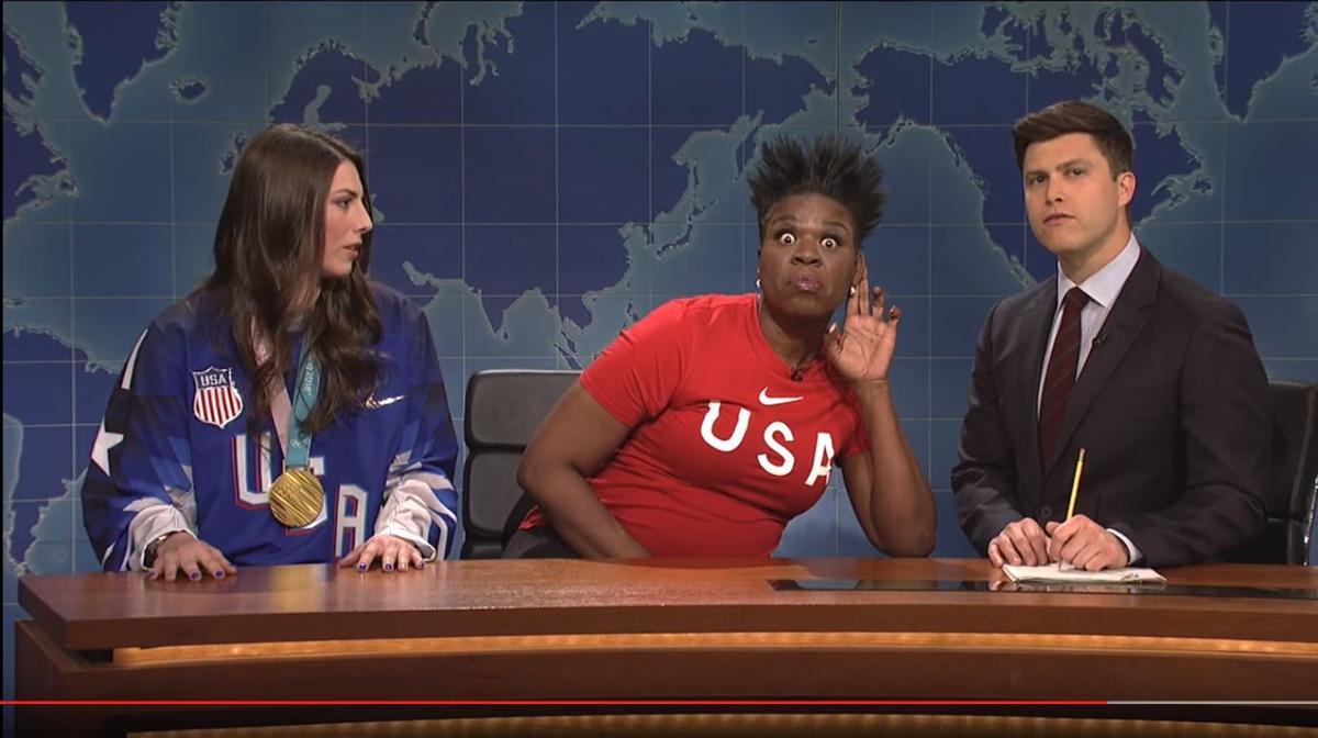 Hilary Knight on SNL's Weekend Update