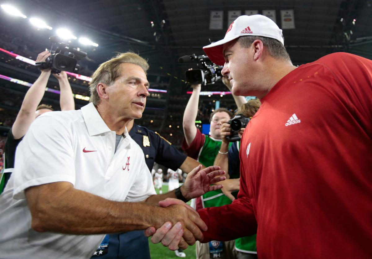 Nick Saban and Paul Chryst-series with alabama