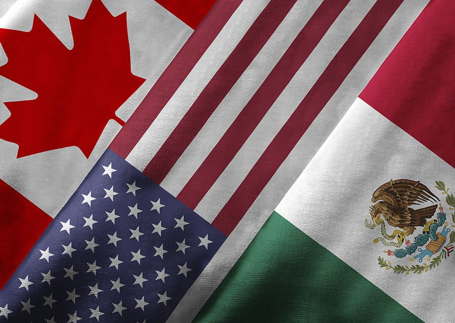 NAFTA member flags