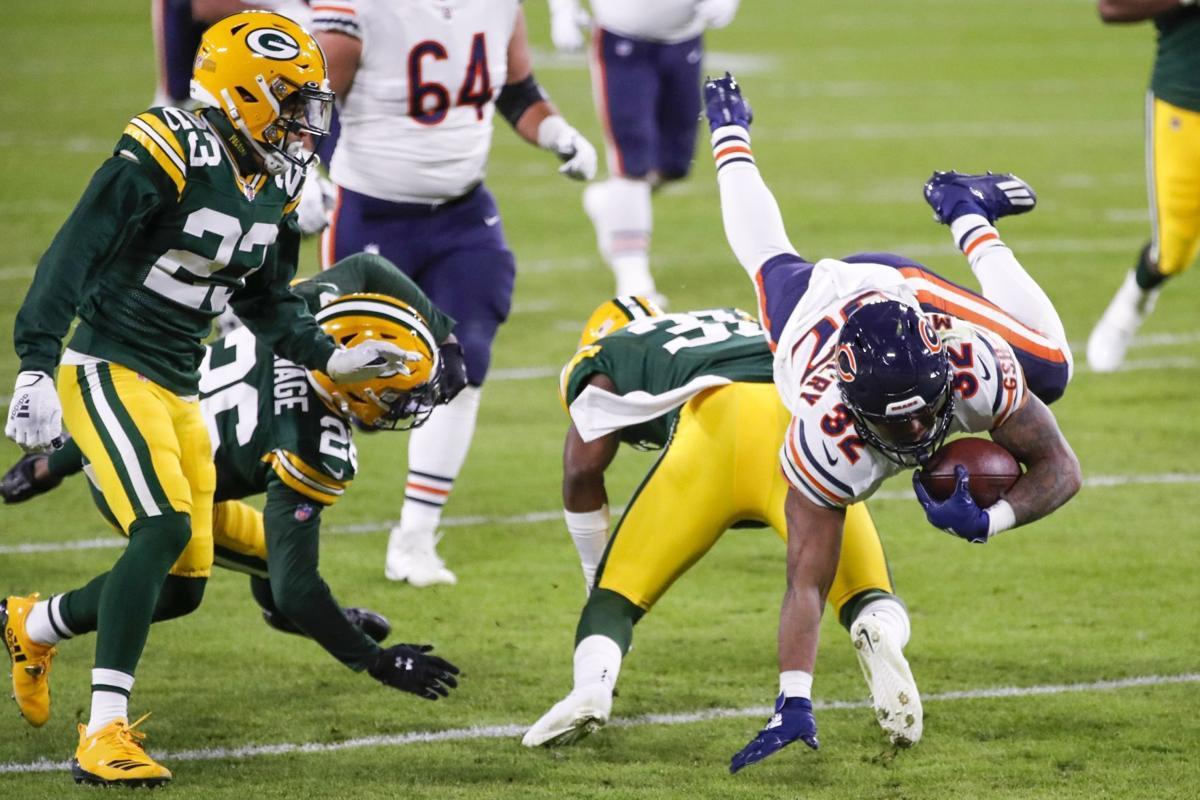 Bears Packers - David Montgomery