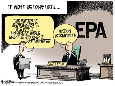Image result for trump epa cartoon