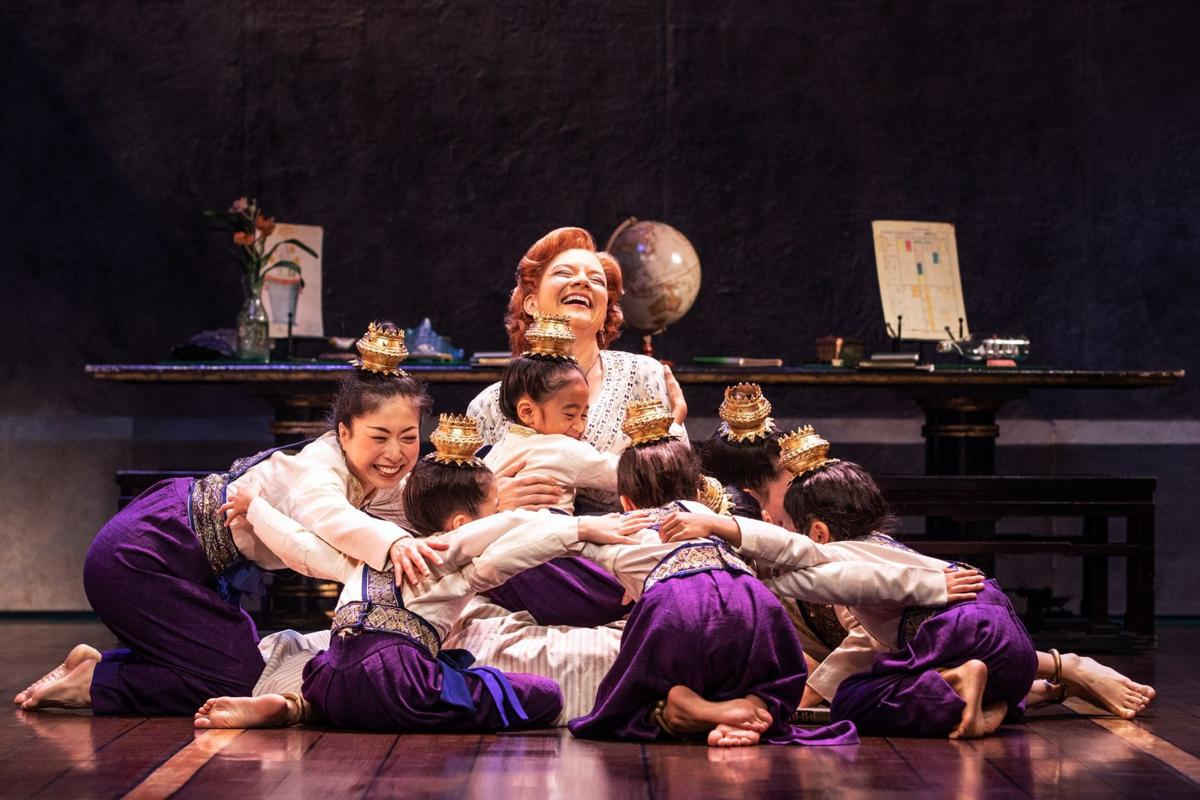 Angela Baumgardner as Anna Leonowens and the Royal Children in Rodgers & Hammerstein's THE KING AND I. Photo by Matthew Murphy..jpg