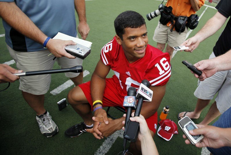 Russell Wilson at Media Day