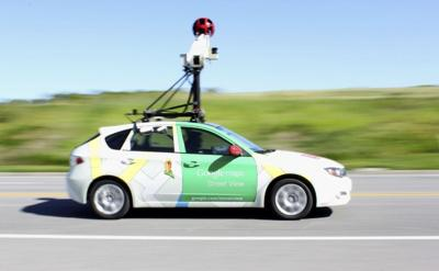 Google Street View car submitted photo