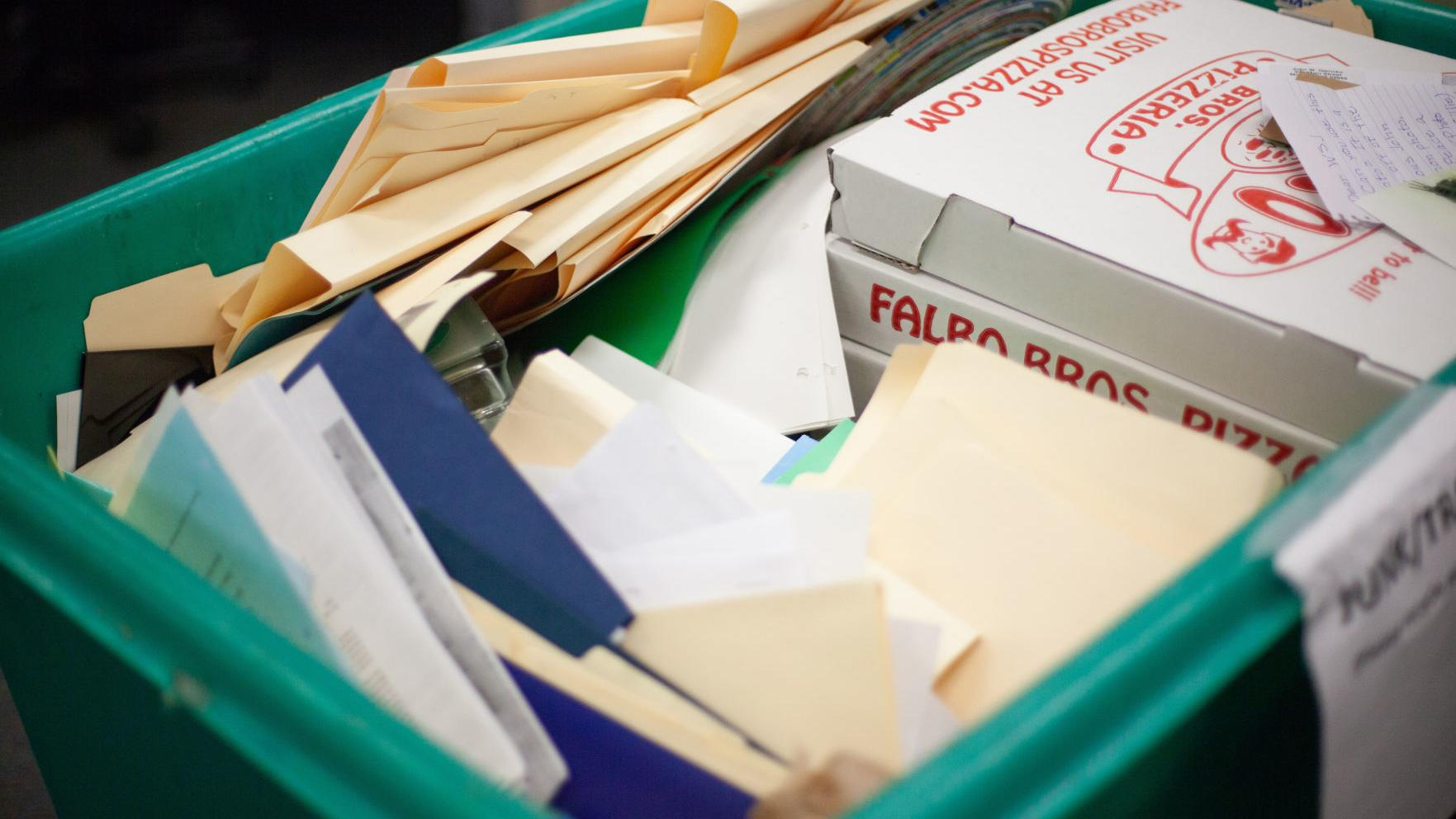 Just Ask Us: Do I have to remove staples and paper clips before recycling paper?