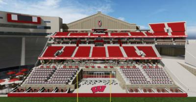 Camp Randall south end zone rendering