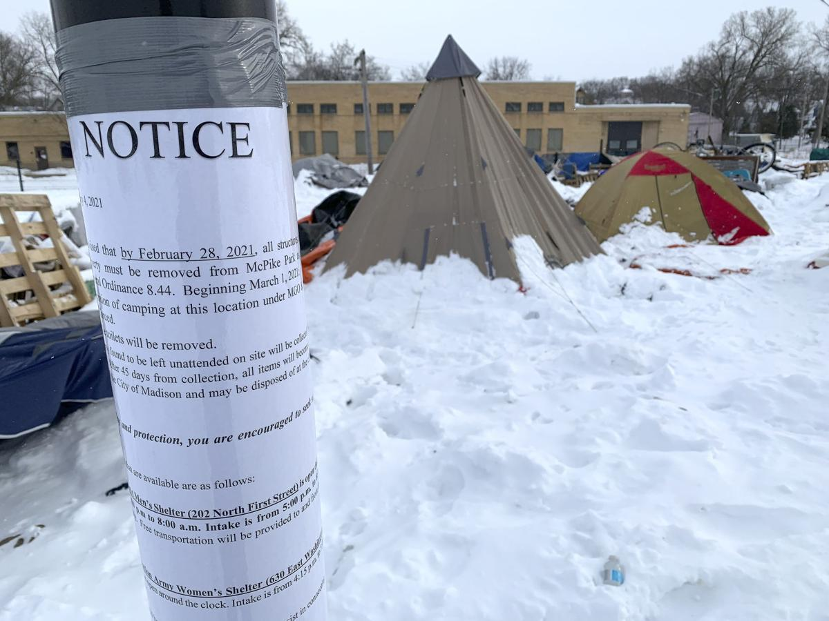 McPike Park Homeless - notice