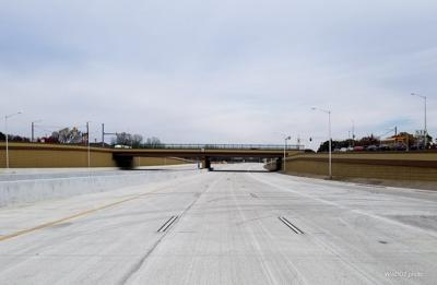New Verona Road lanes just before opening, DOT photo