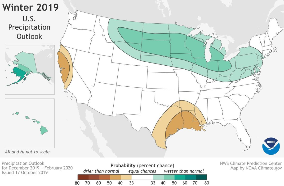 Winter 2019-20 U.S. precipitation outlook