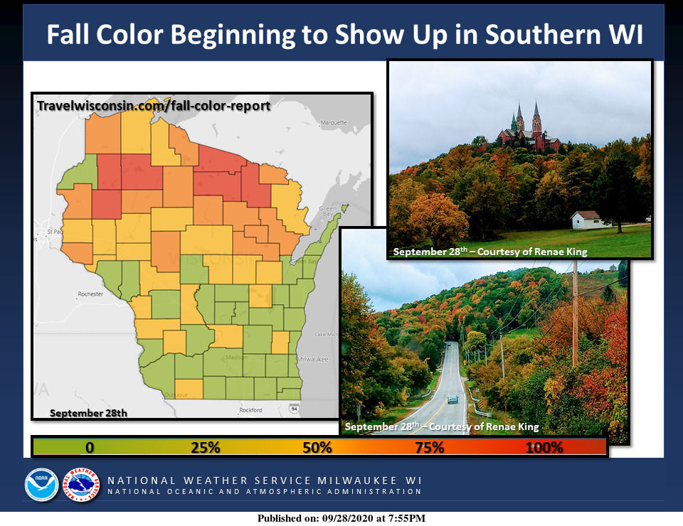 Fall color by National Weather Service
