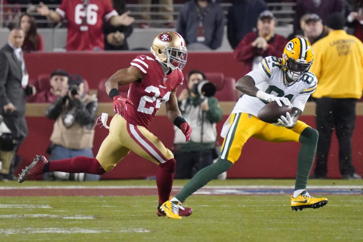 Geronimo Allison with Packers, AP photo