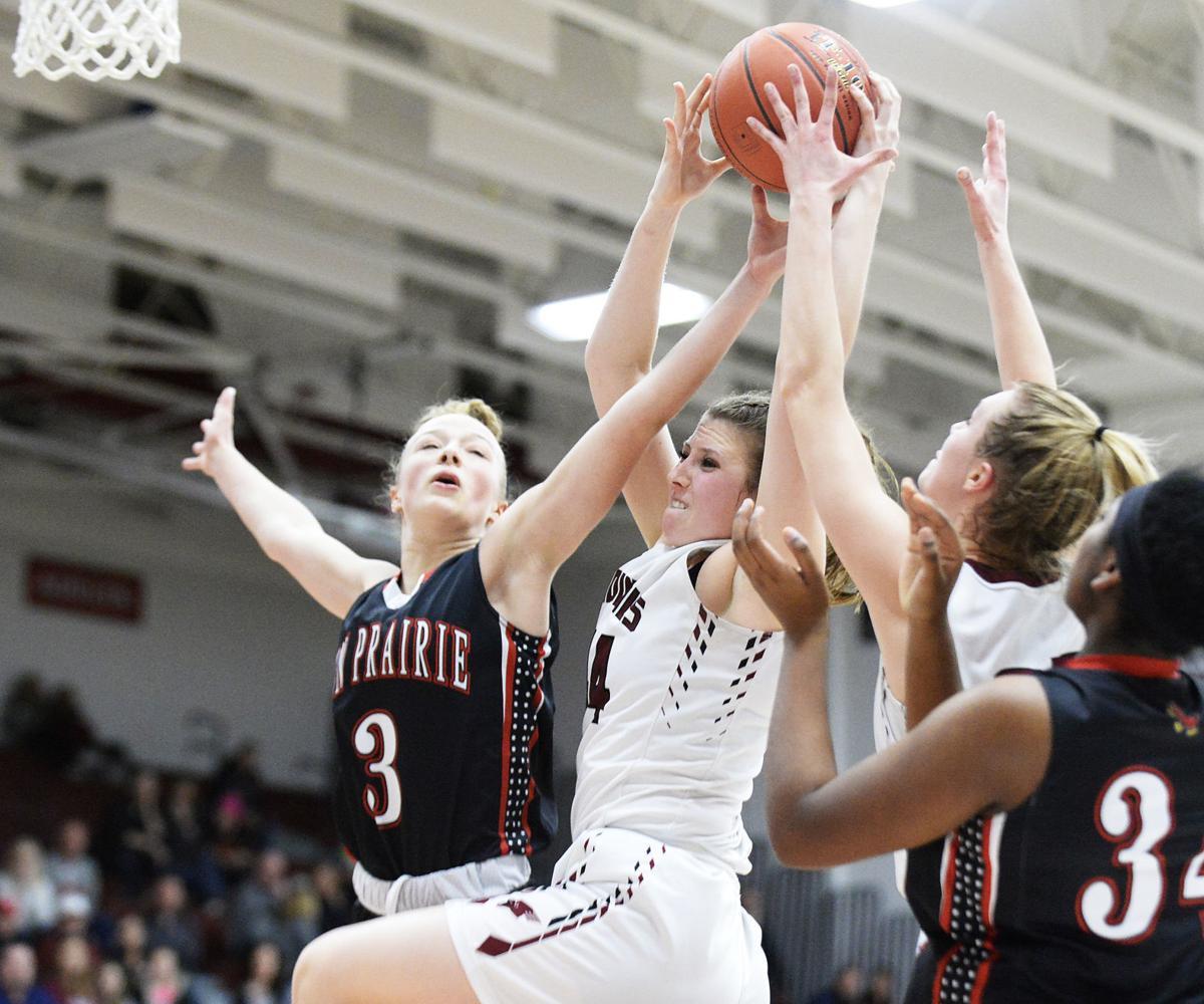 Girls basketball turn photo