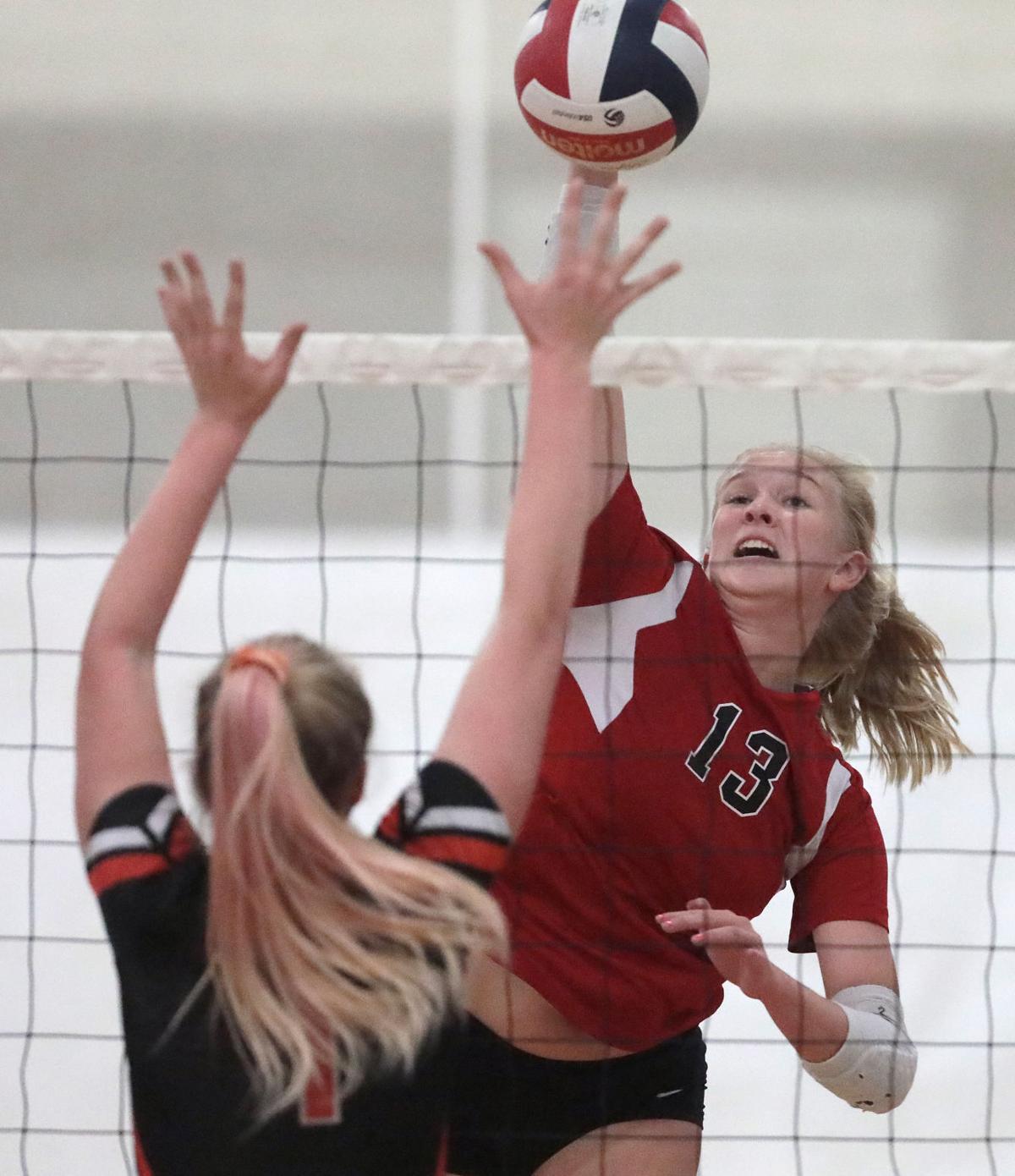 Prep girls volleyball photo: Sun Prairie's Payton Addink