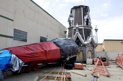 Last Days Of St Raphaels Cathedral >> In The Spirit St Raphael Spire To Be Stored Base To Be Scrapped