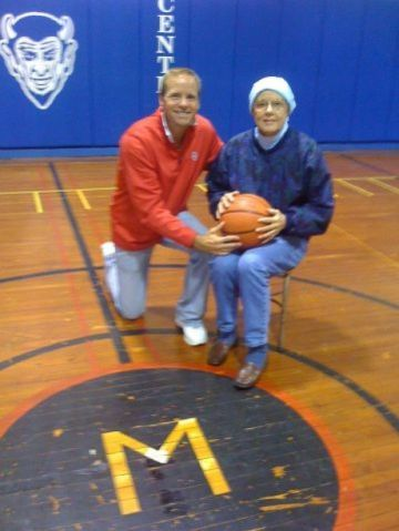 The Borlands in the Maynard gym
