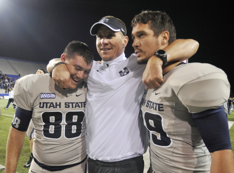 Tom Oates Barry Alvarez Finds Fine Match In Utah State S Gary Andersen Madison And Wisconsin Sports Madison Com